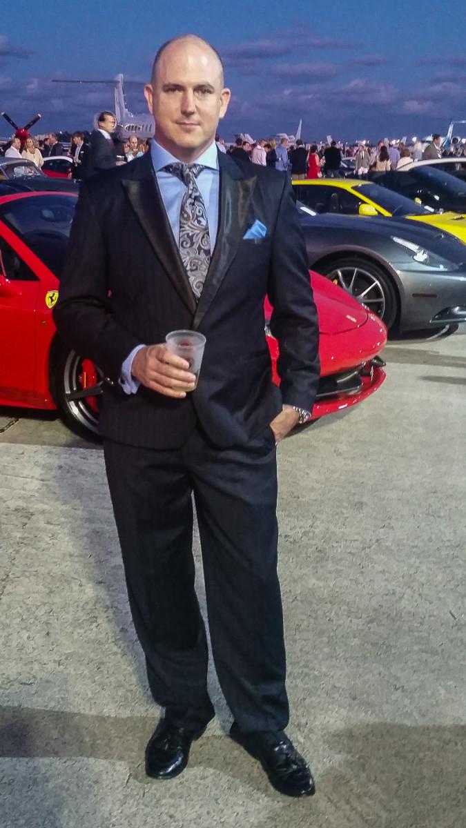 John Dougan wearing a Tigorico Suit
