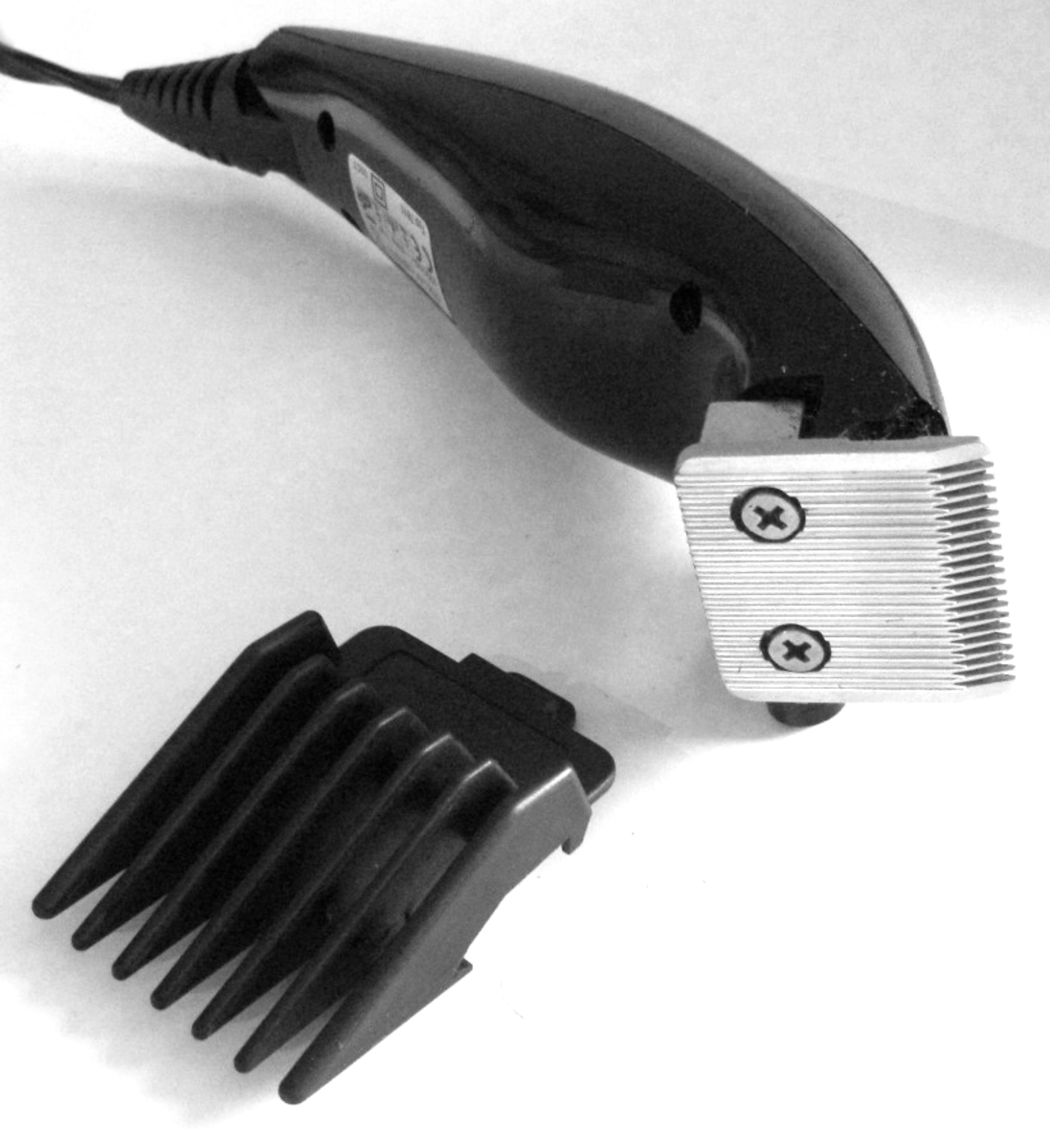 Use clippers to tidy and reduce bulk.