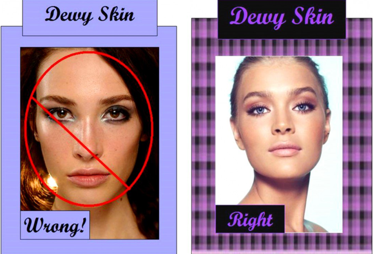 How to get natural looking dewy makeup - even if you have oily skin.