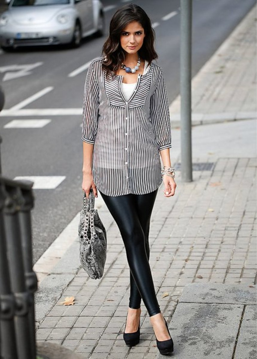 e83374de0d2 How to Wear Leggings With Heels. Heels are the ...