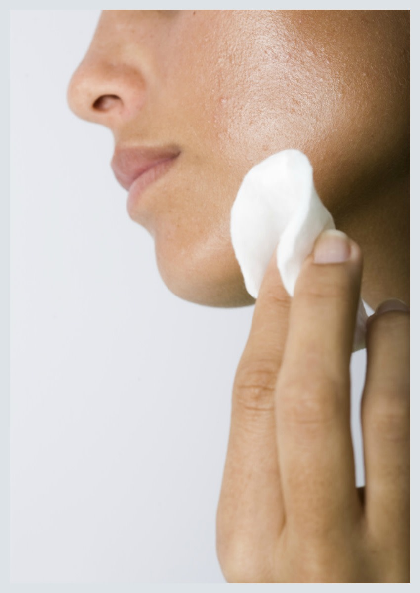 If you have acne, treat your face gently and avoid touching it with your fingers