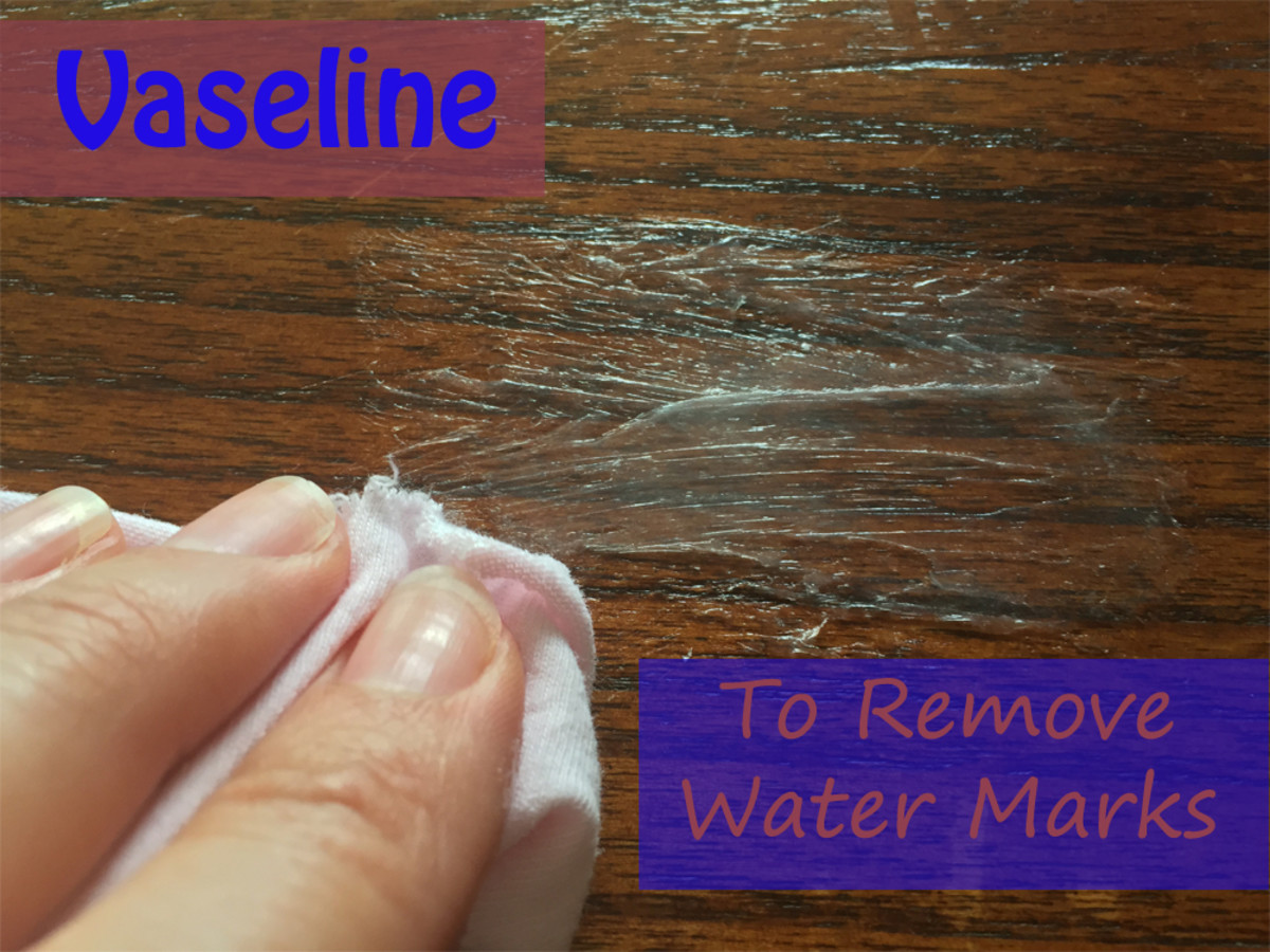 Use Vaseline to Remove Water Marks