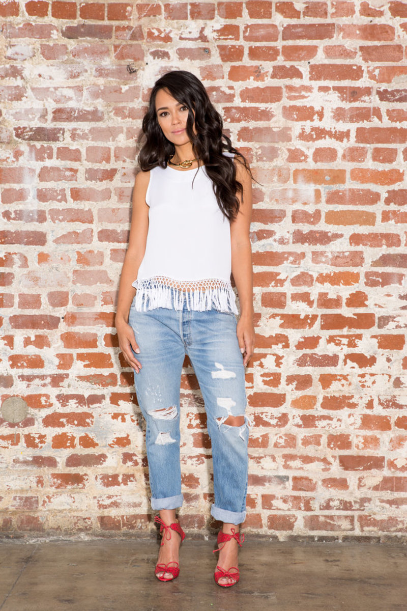 Fringe AND Denim. It's a fashion two-for!