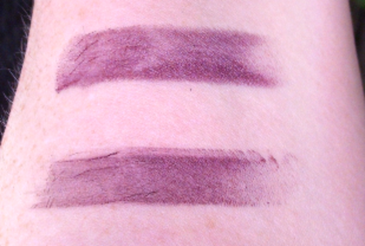 Top to bottom: Maybelline Midnight Plum, Wet n' Wild Vamp It Up
