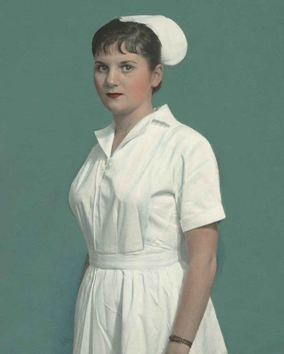 In the last century a nurse could be identified by her white dress and cap