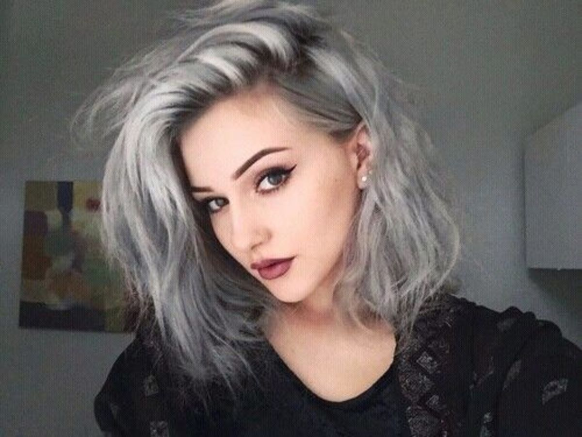 Diy hair how to get granny gray hair bellatory bleach to start solutioingenieria Image collections