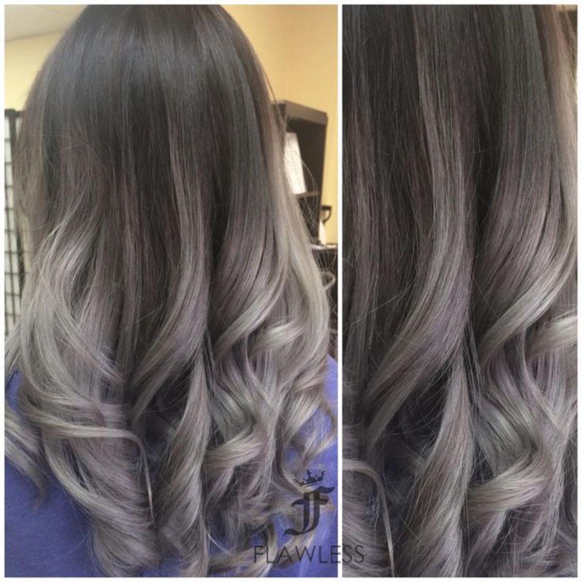 Ombre Gray Hair
