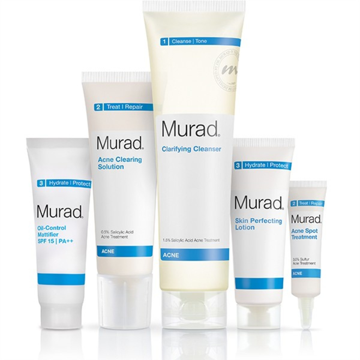 The Complete Acne Control kit comes with 5 pieces instead of 4.
