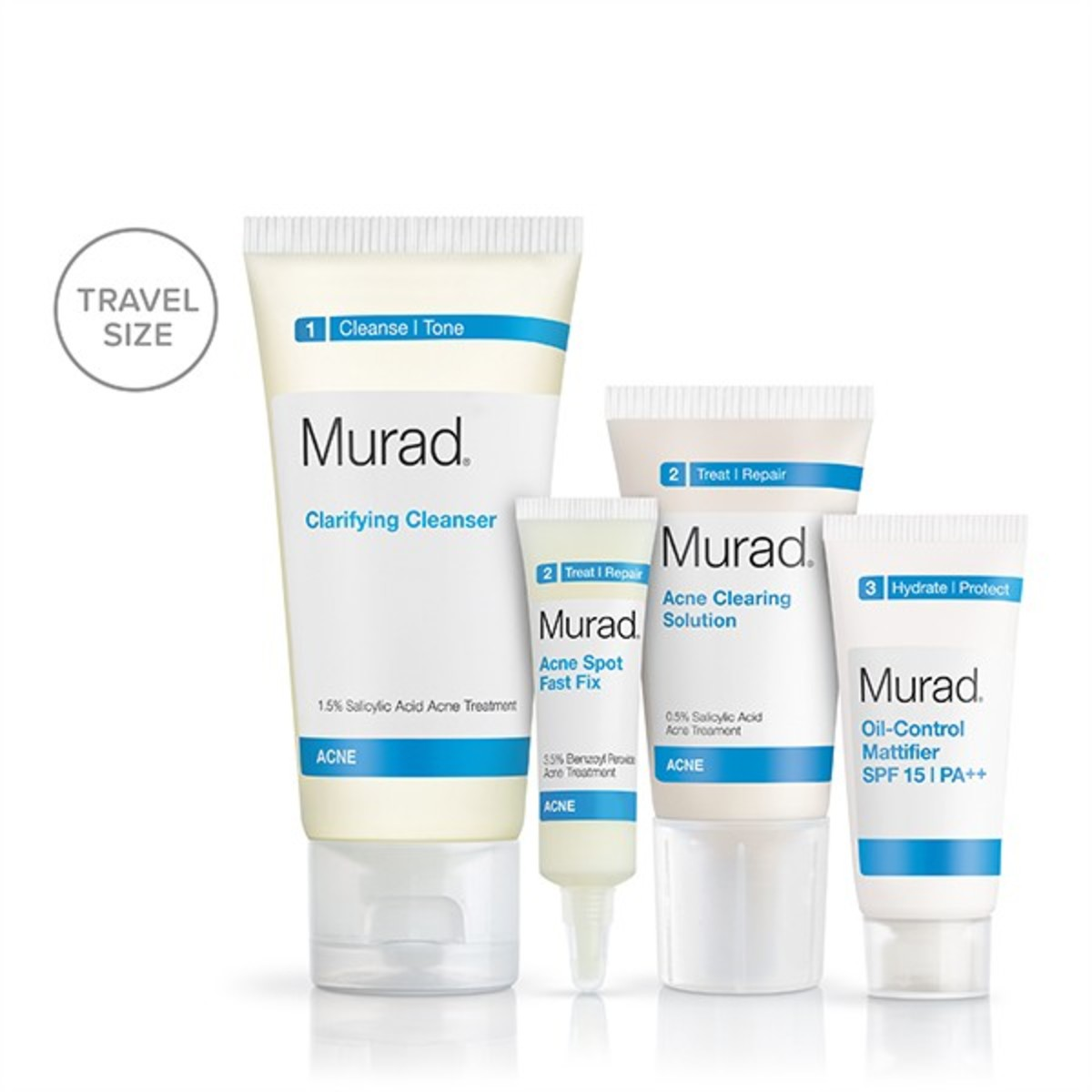 The Acne Starter Kit comes with four products.