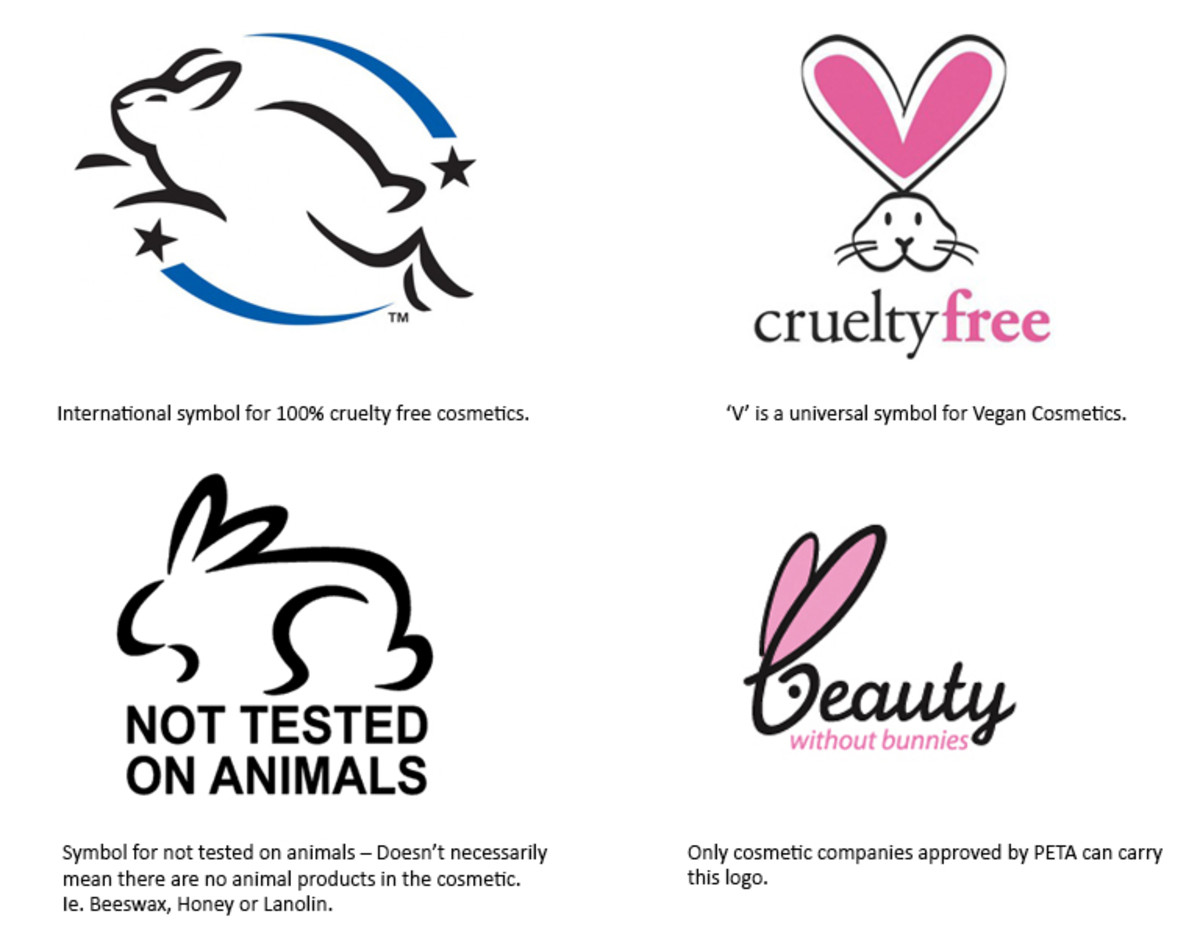 These are the four most common labels used to identify certified cruelty-free brands.