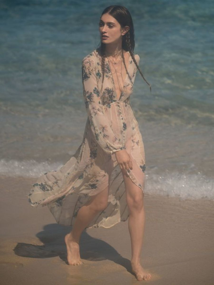 Colors of the Wind Floral Maxi
