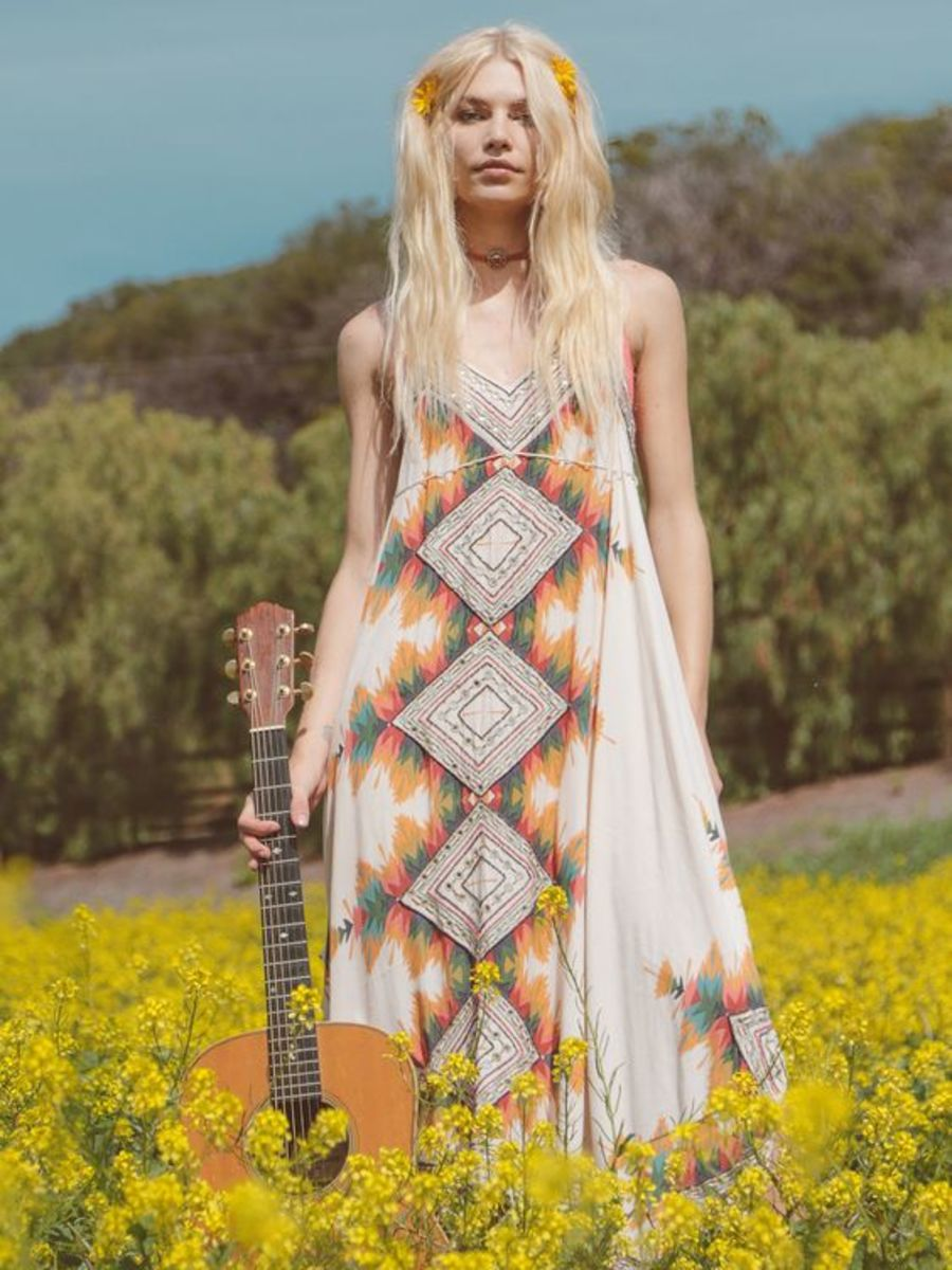 Ibiza Midi | Stunning midi dress featuring colorful tribal inspired print