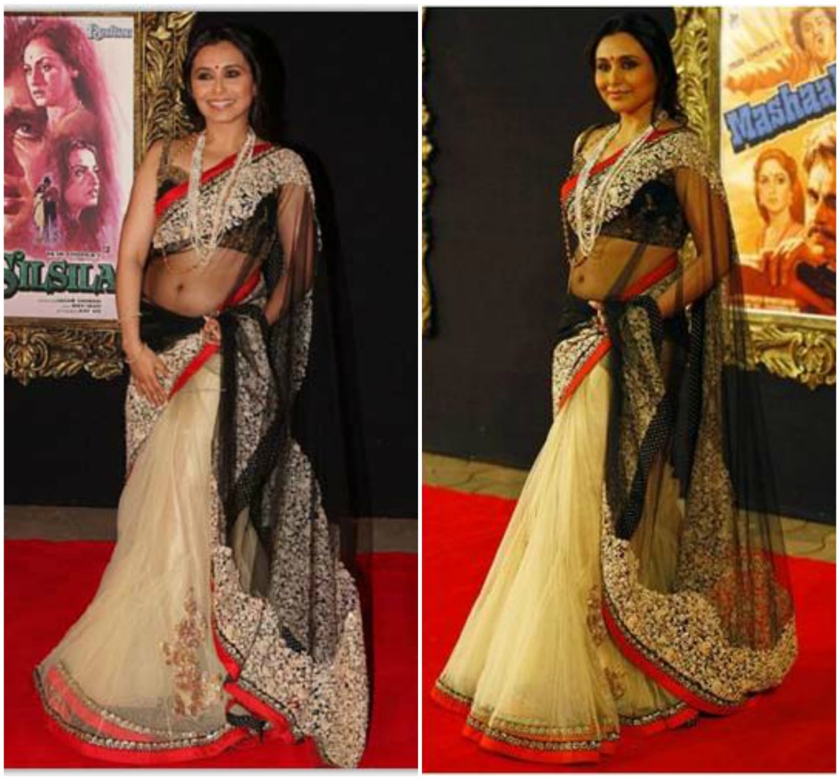 Rani's embellished outfit