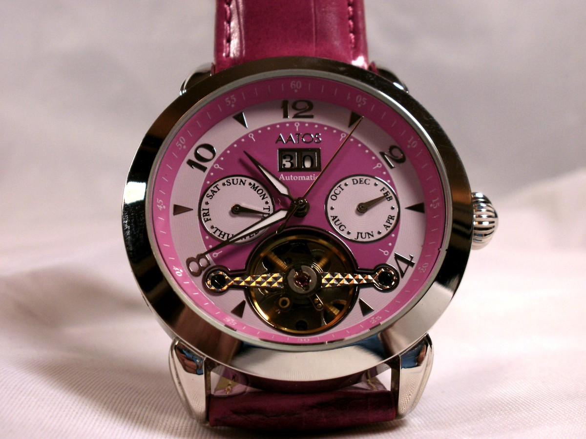review-of-the-aatos-ladies-automatic-pink-leather-band-wristwatch-g-dolialspink
