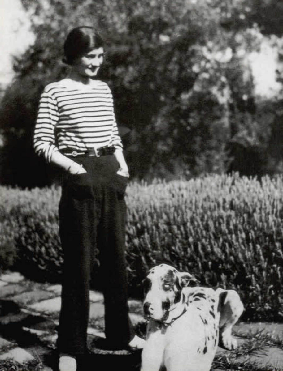 Coco Chanel in 1928 - note trousers