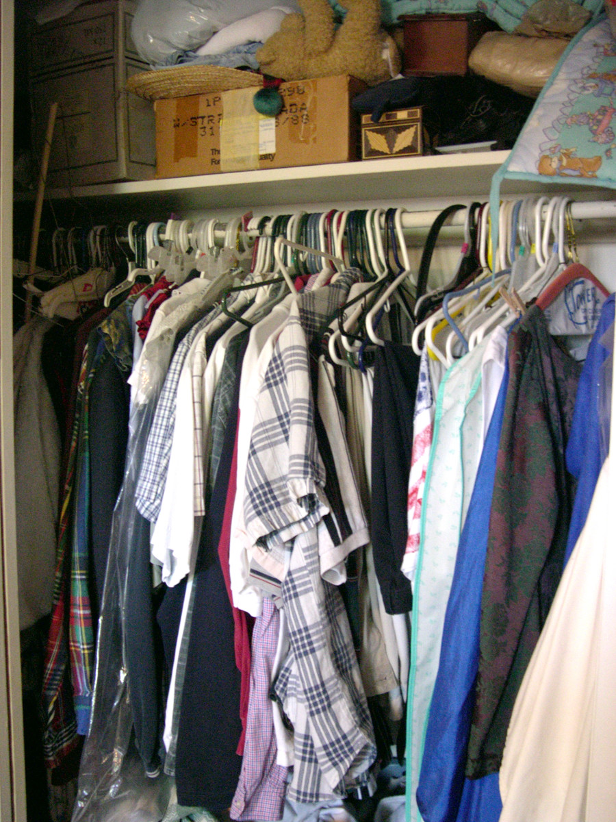Does your closet look like this? Maybe it needs organization!