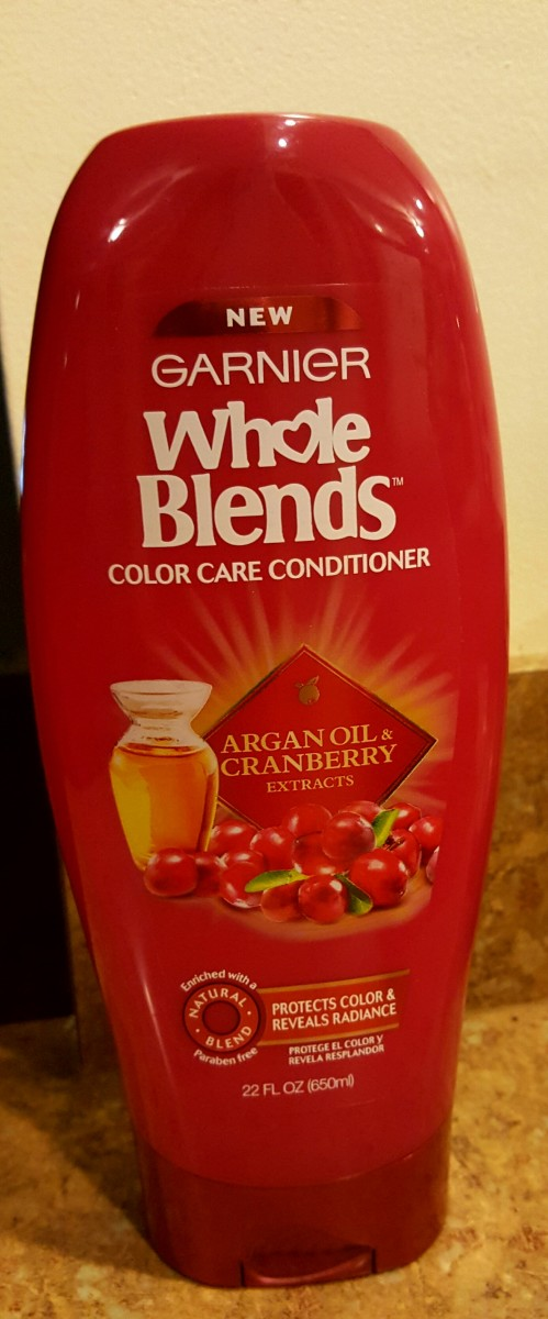 Garnier Whole Blends Color Care Conditioner Argan Oil and Cranberry Extracts.