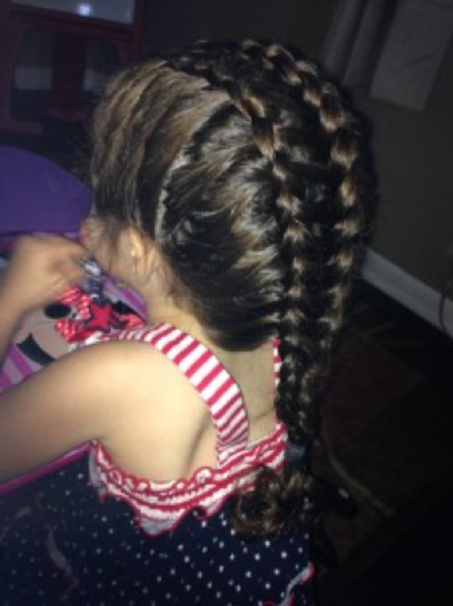 Ladder French braid.