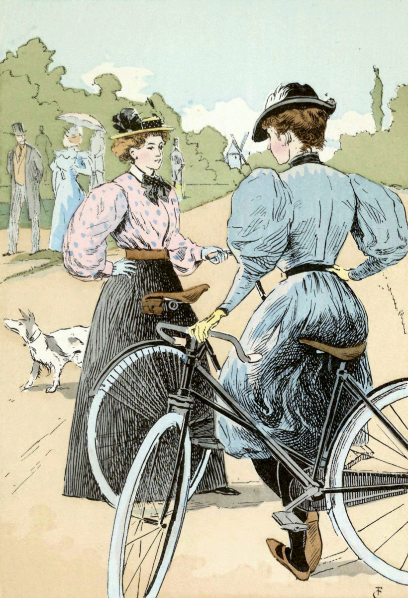 Bicycles gave women more independence and mobility.