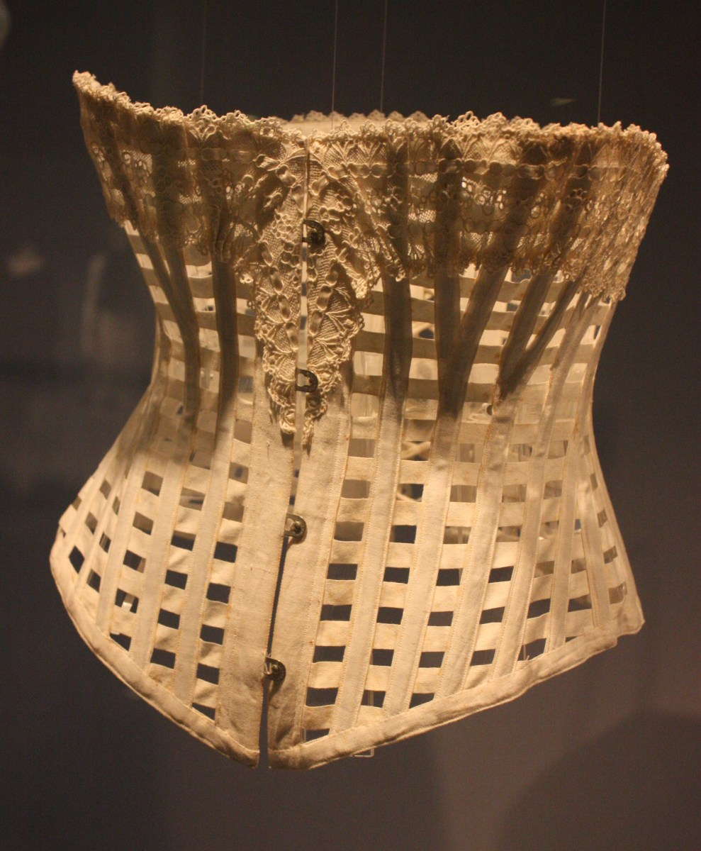 The ventilated corset was worn during hot weather.
