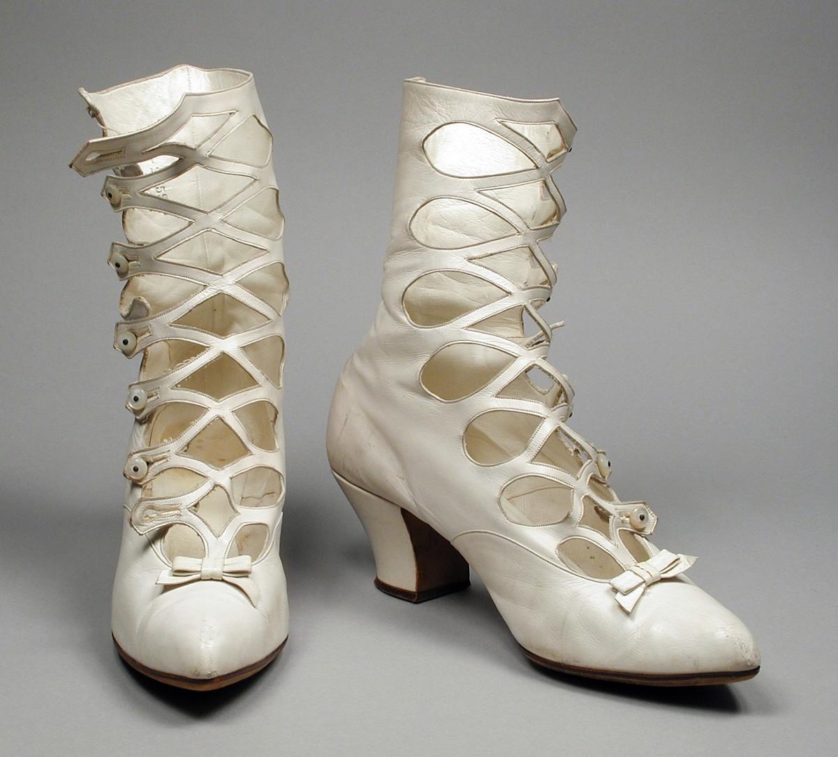 Boots circa 1895.