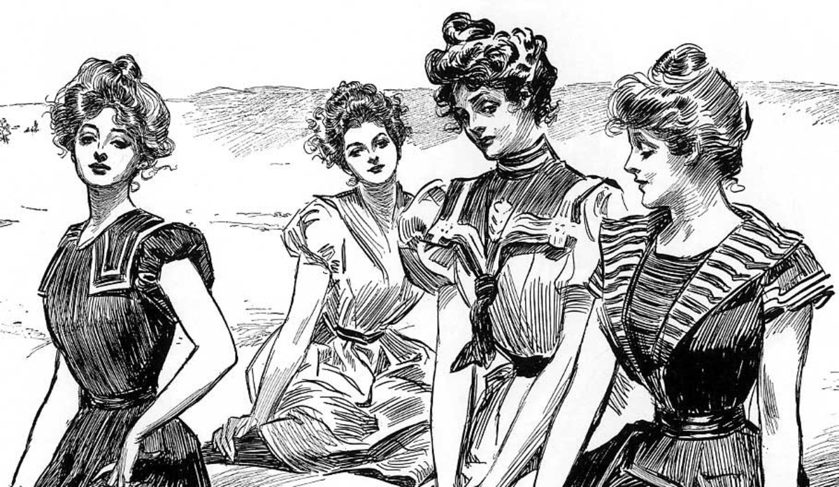Gibson Girls circa 1895.