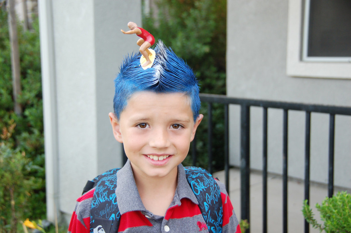 A hairstyle the boys can do for Crazy Hair Day or Wacky Hair Day.
