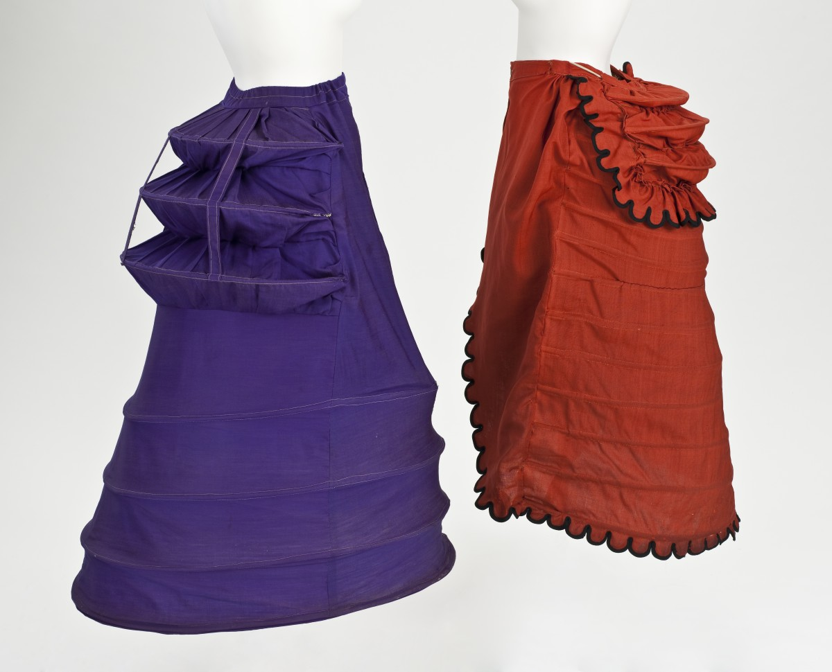 Crinoline with attached bustle