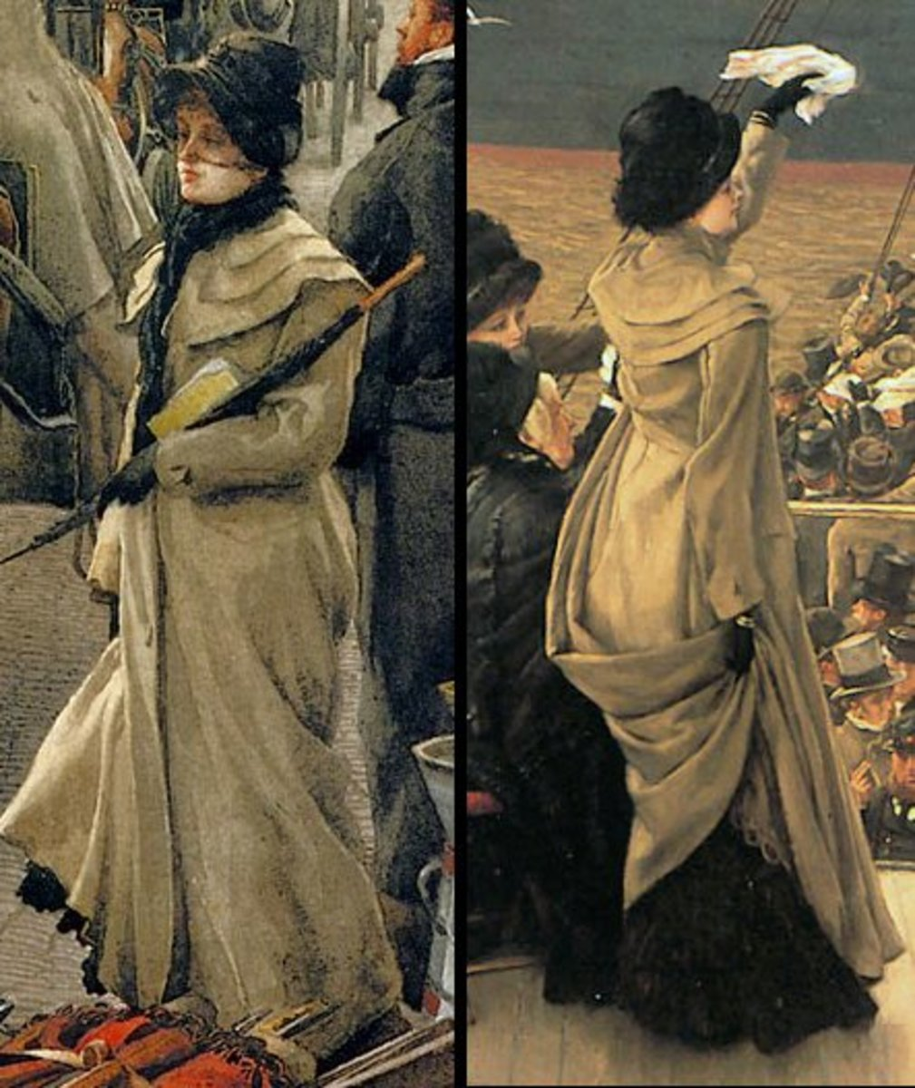 1881 Travel coat from a painting by James Tissot