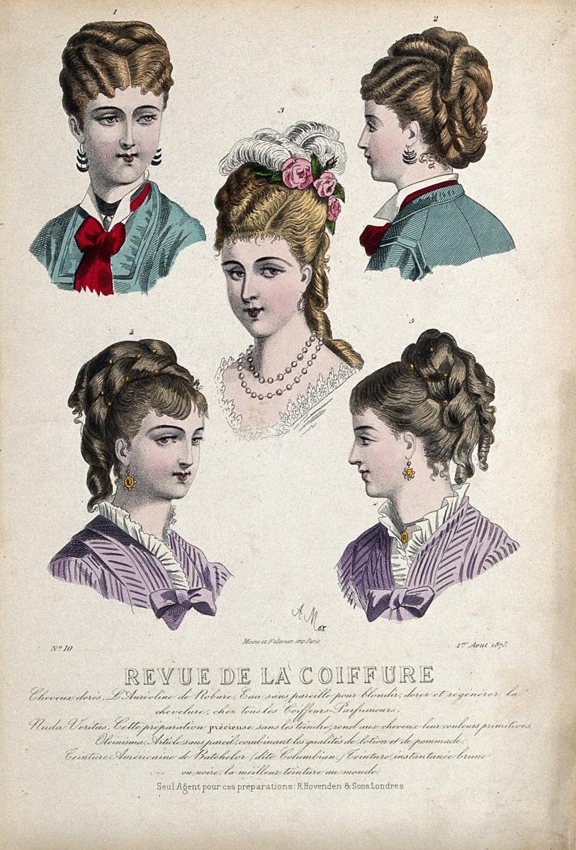 Hair styles circa 1875