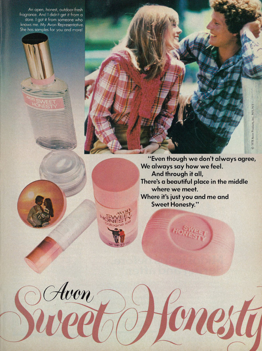 """""""An open, honest, outdoor fresh fragrance. And I didn't get it from a store. I got it from someone who knows me. My Avon Representative. She has samples for you and more!"""""""