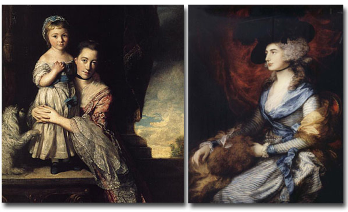 Sophisticated ladies from the 1700s wore black ribbon chokers.