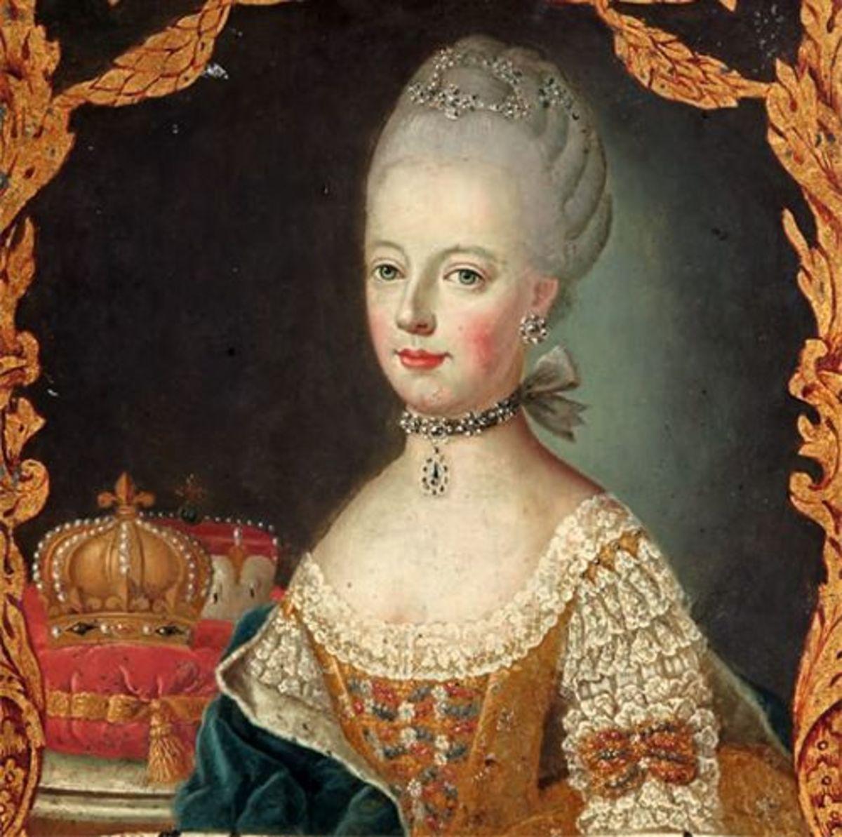 Portrait of Marie Antoinette in 1774 (artist unknown)