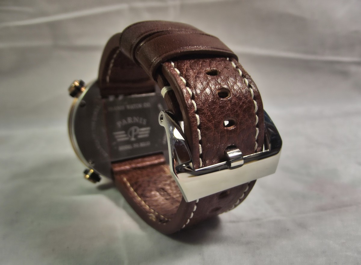 Parnis P523 PU leather strap
