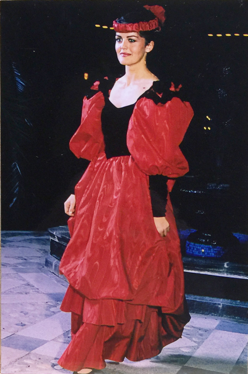 Poofy dress of the 1980s.