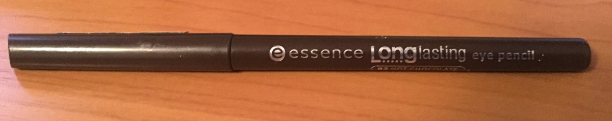A quality eyeliner, like this Essence eye pencil, delivers intense and long lasting color.