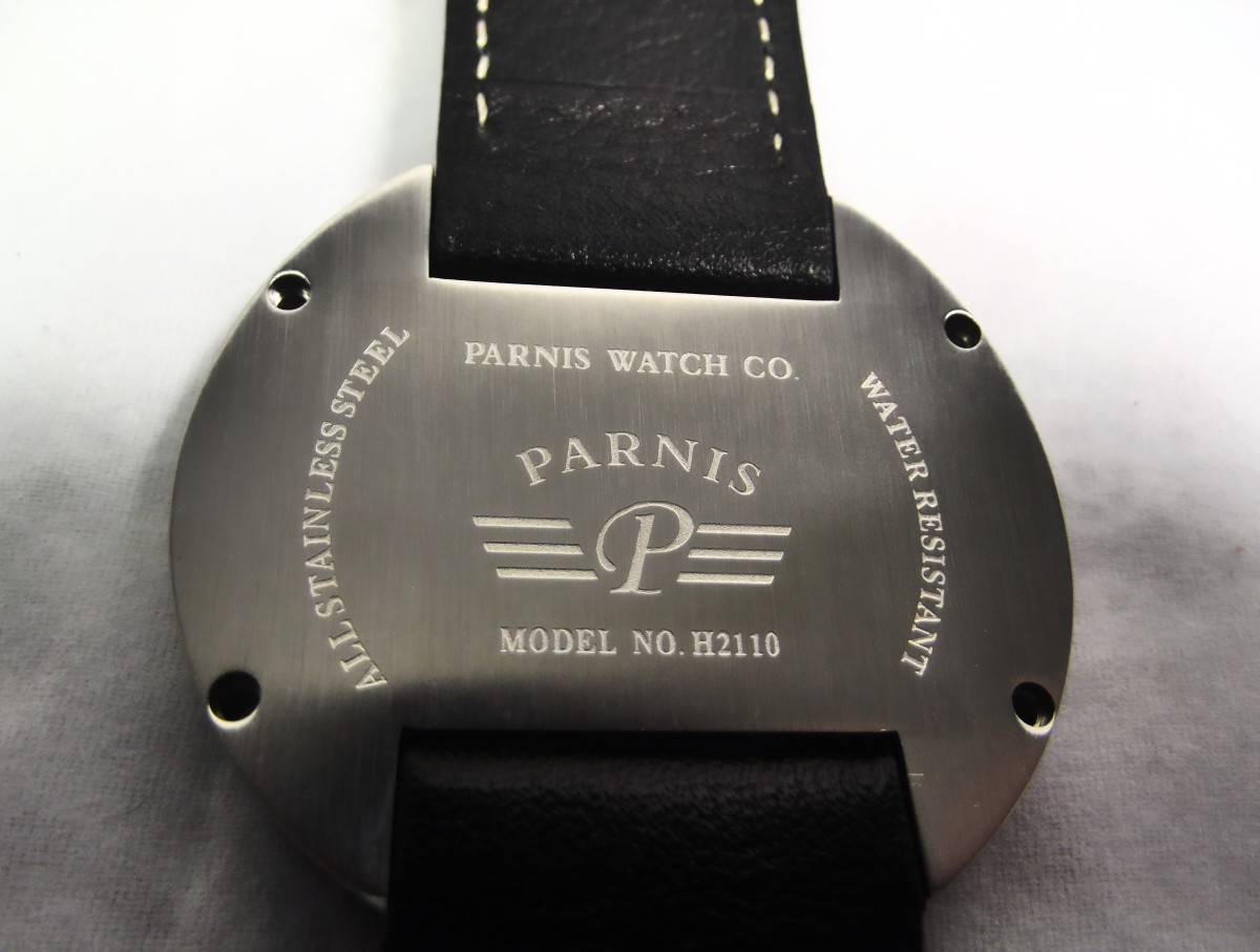Backplate of Parnis H2110 Chronograph
