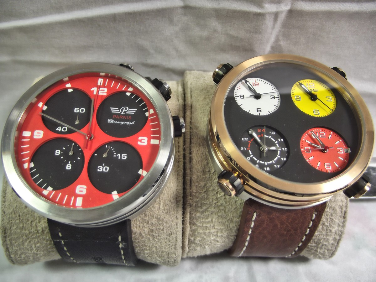 Parnis H2110 Chronograph alongside it's sibling, the Parnis P523