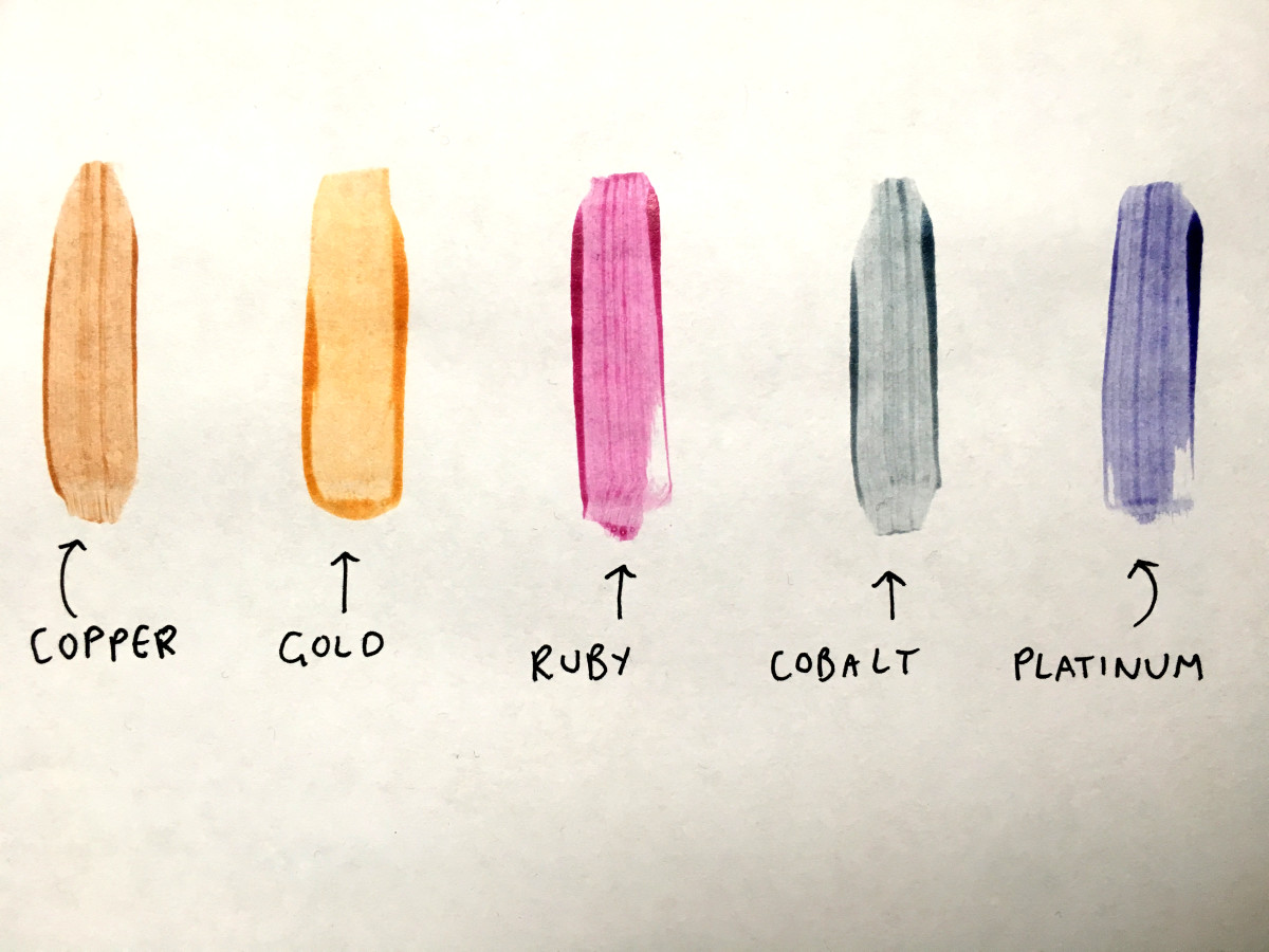 Colour wash swatches