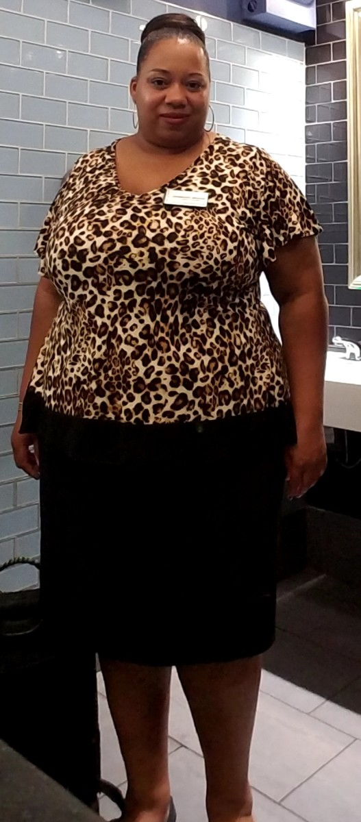 An outfit that I order online from Ashley Stewart