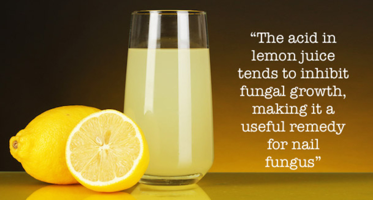 The acid in lemon tends to inhibit fungal growth, making it a useful remedy for nail fungus.