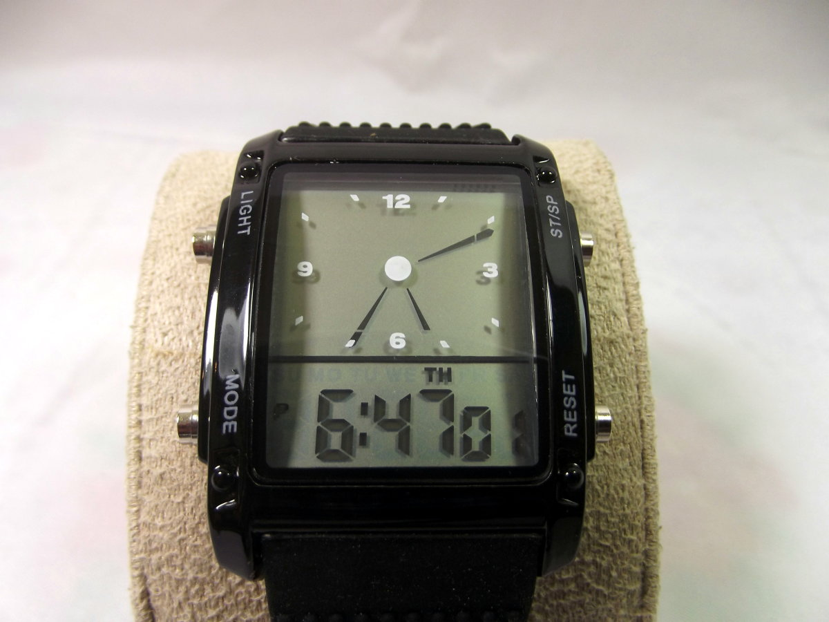 Men's Modish Digital LCD Chronograph Watch