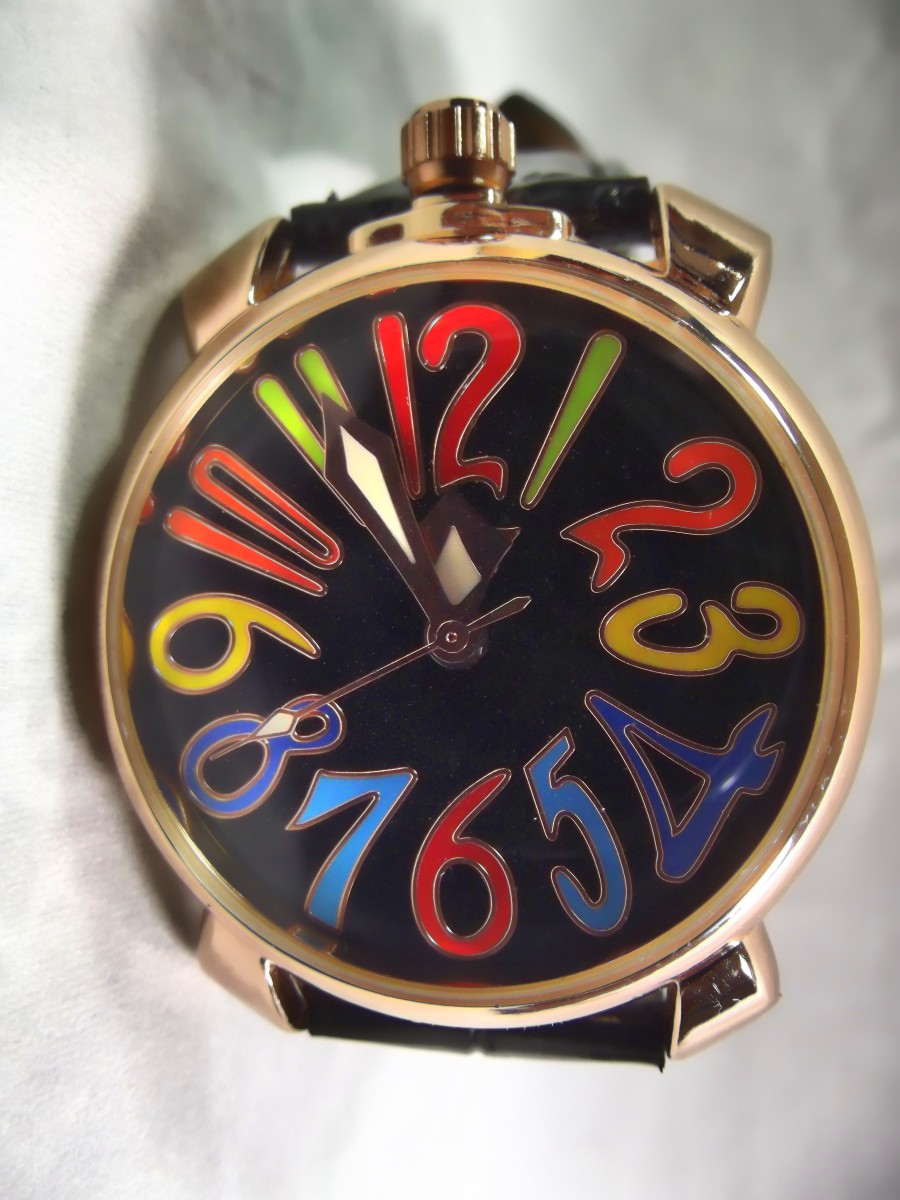 Winner u8060 Automatic Watch.  The large colorful numbers are reminiscent of the style used by Franck Muller