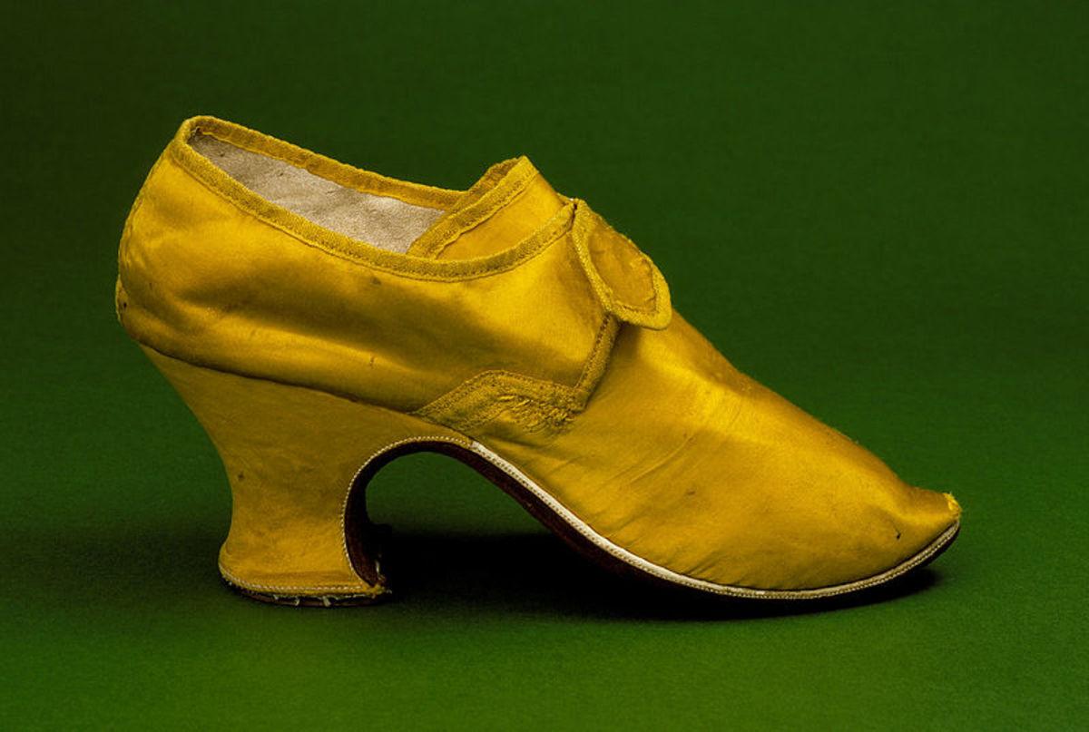 Shoe, circa 1760