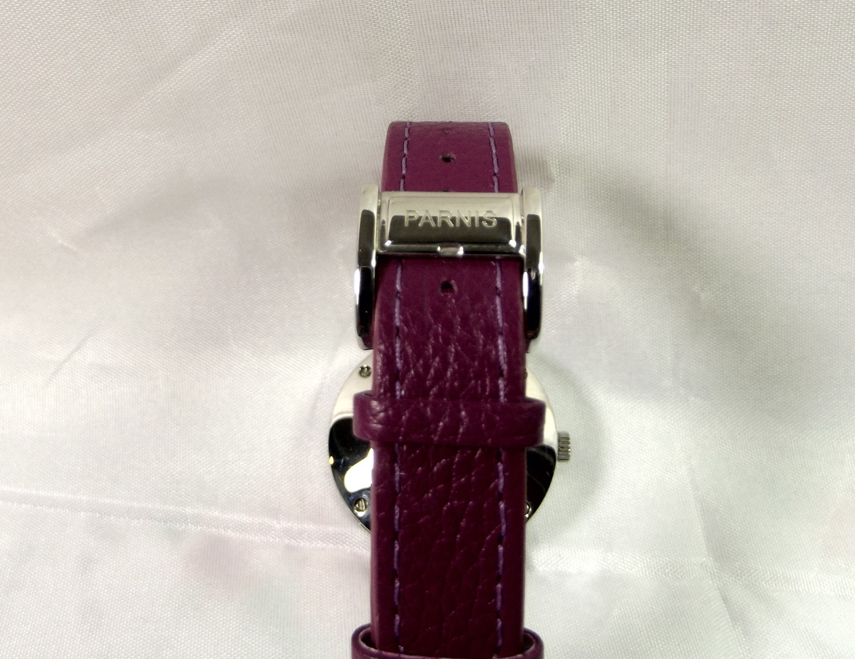 Parnis Purple 33mm quartz women's watch