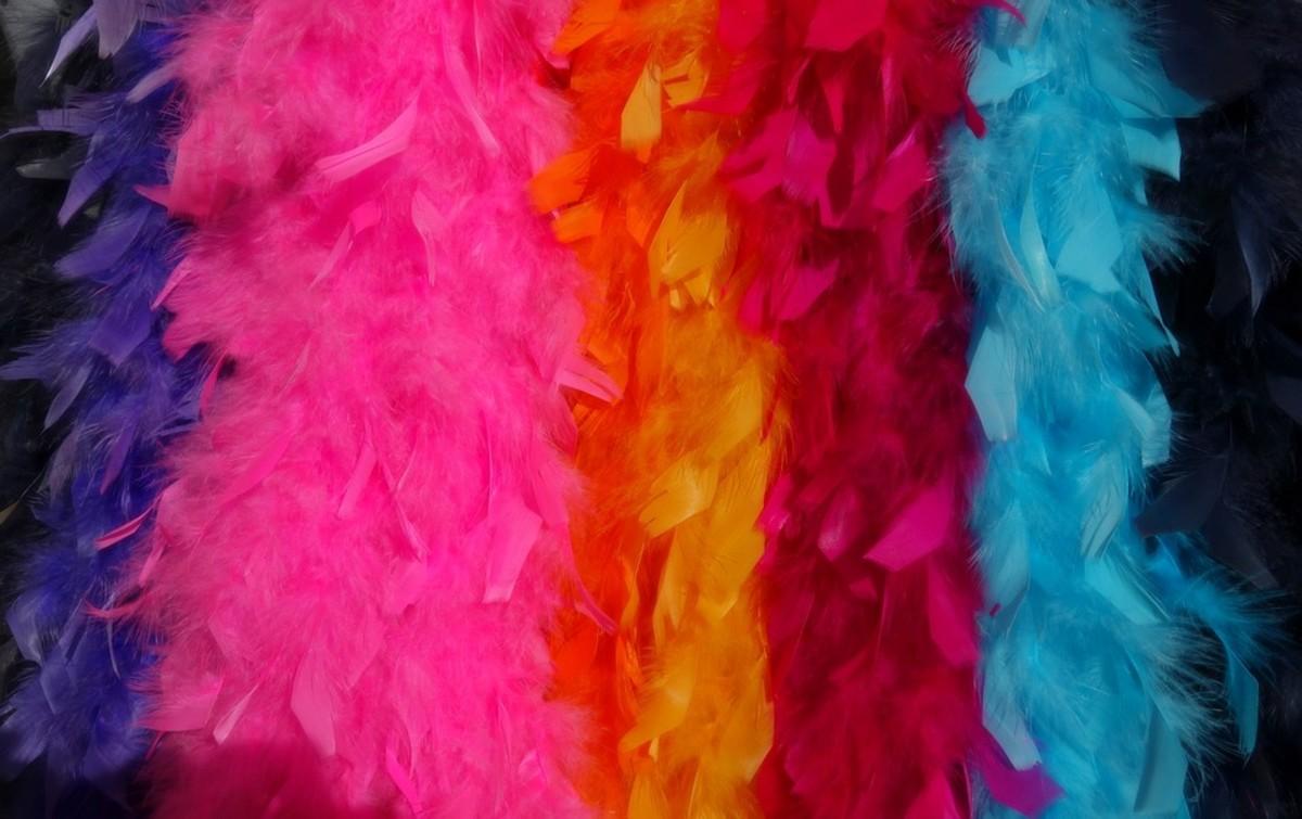 Feather boas were fun fashion accessories in the 70s!