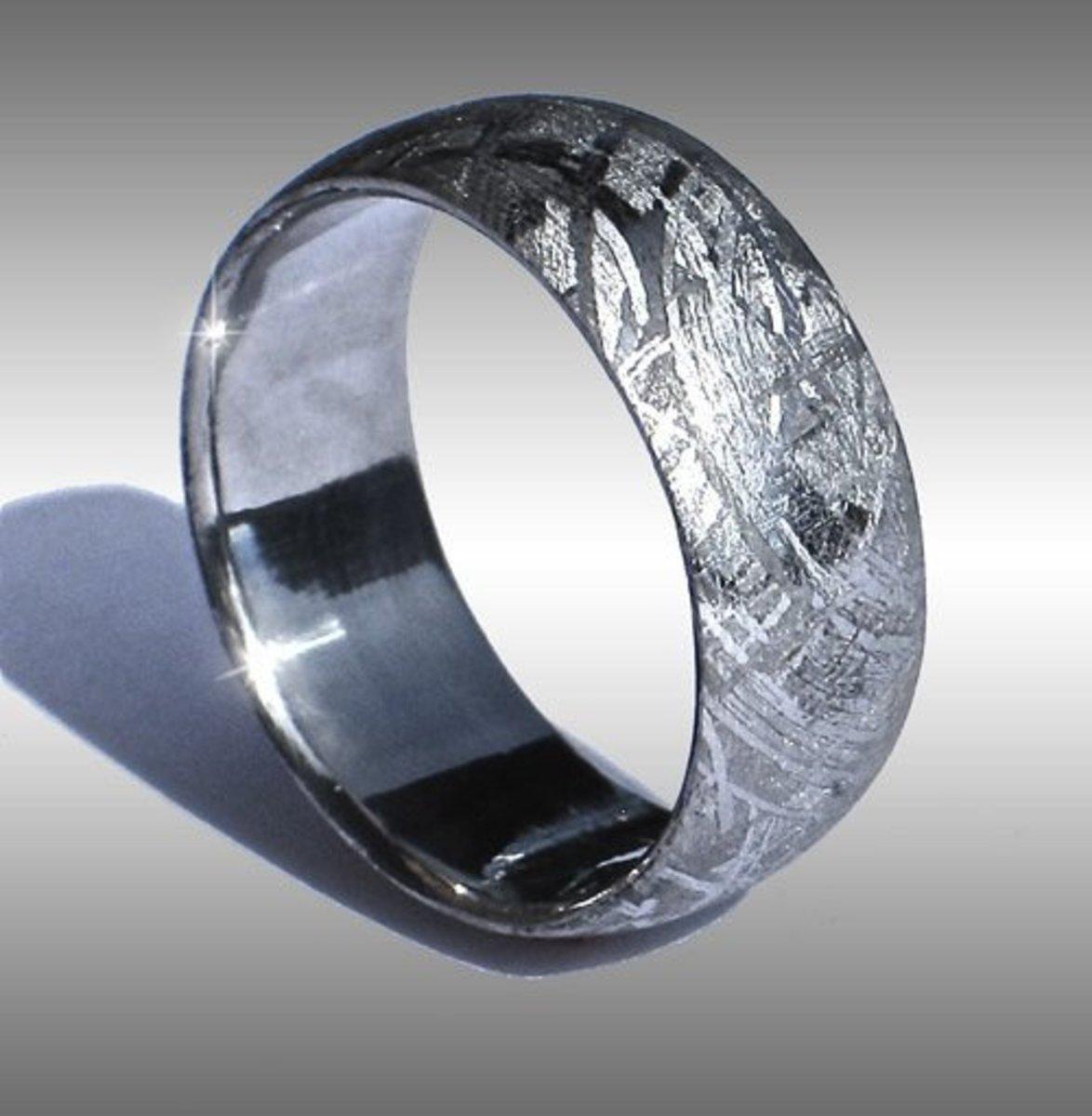 Full metal iron meteorite ring
