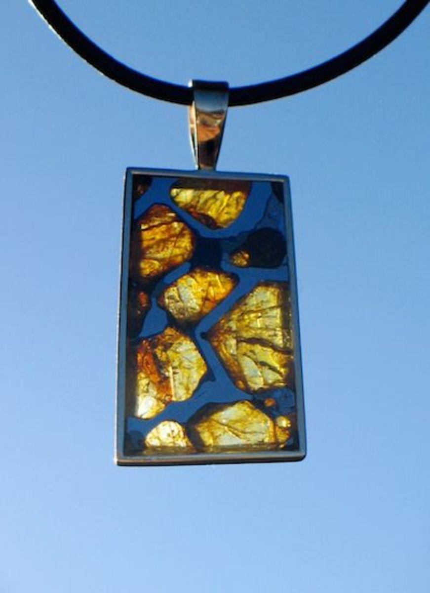 Pallasite pendant