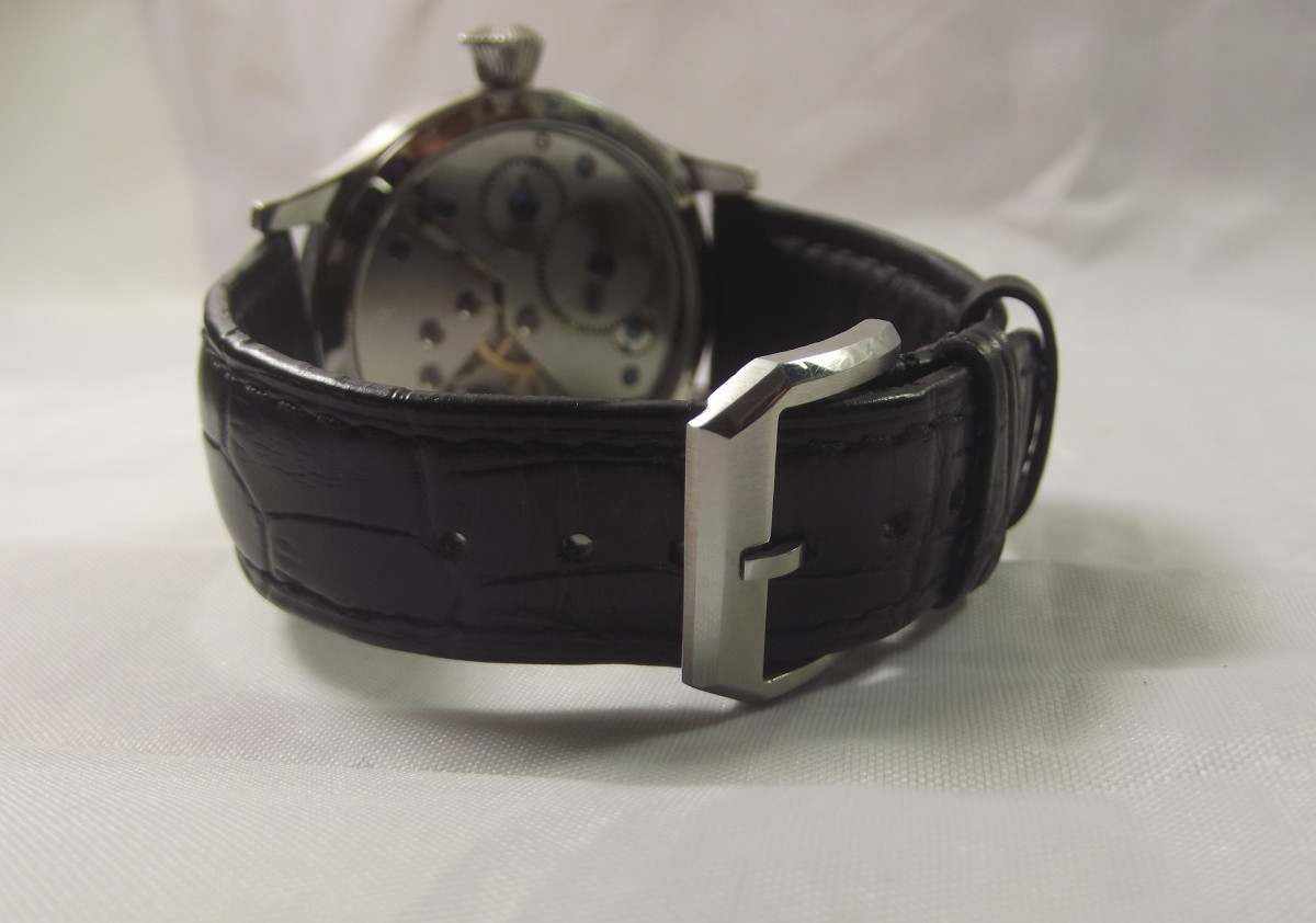 Corgeut 1527 mechanical watch with Asian 6498 movement