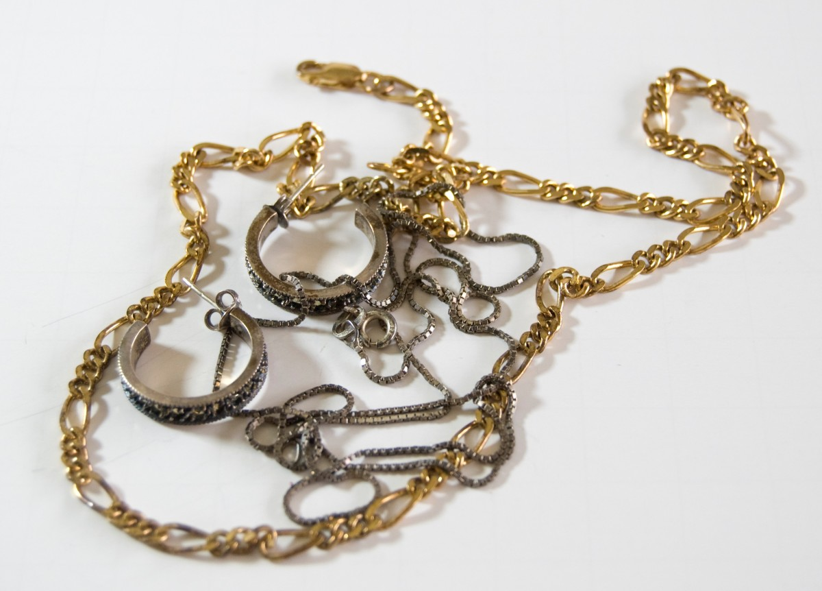 Gold-filled sterling silver necklace